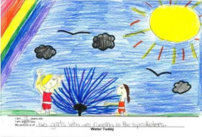 Child's Drawing of The Science of Water