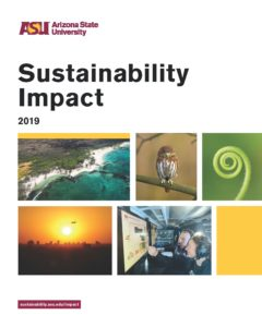 cover of 2019 sustainability impacts report