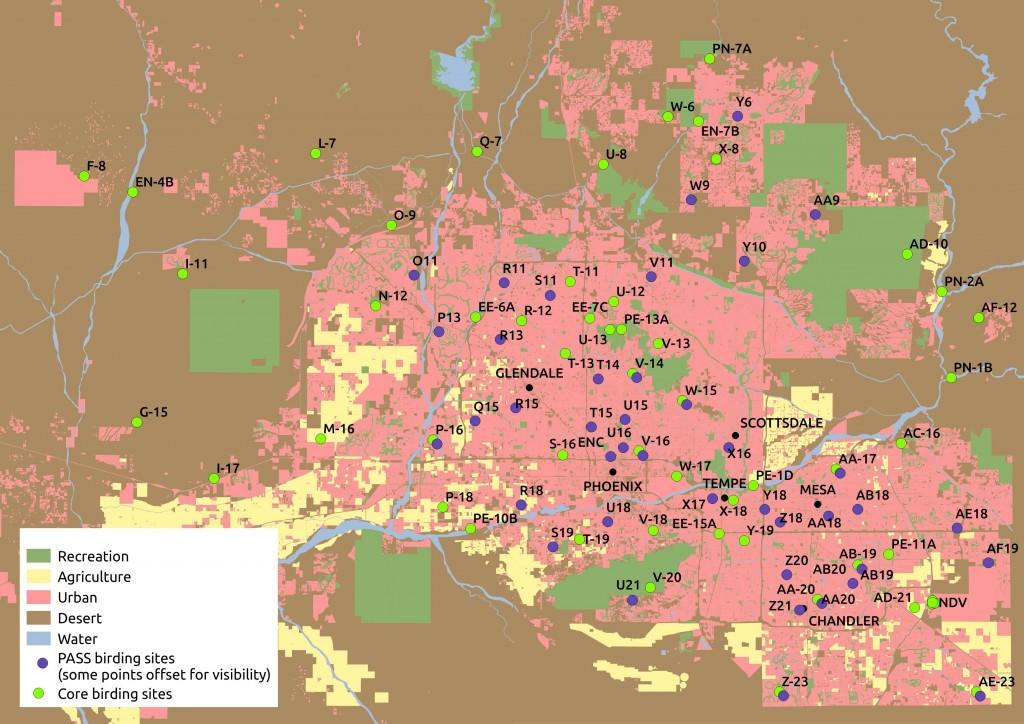 Bird census map