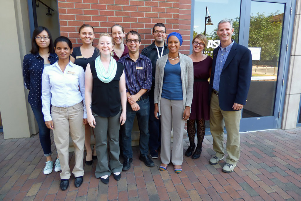 Dave White with Students