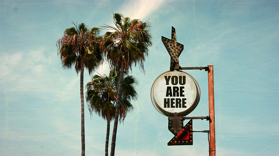 image of a you are here sign