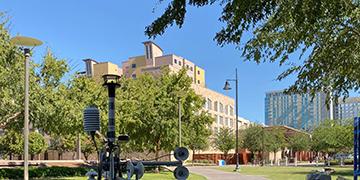 Park area in downtown Tempe, AZ
