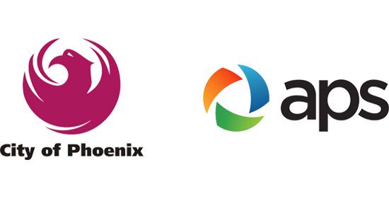 City of Phoenix, APS logo